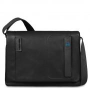 Piquadro Messenger porta PC/iPad®Pro 12,9 CA3348P15 in Pelle Nera