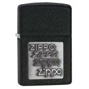 Bricheta Zippo Black Crackle Pewter