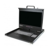 StarTech.com Consola de Rack 1U con LCD 17'' HD 1080p y Concentrador Hub USB Frontal