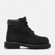 Timberland 6-inch Boot Premium Pour Tout-petit En Noir Noir Enfant, Taille 25.5