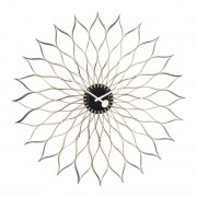 Vitra Sunflower Clock Klok Zwart/Messing