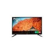TV LED 28 Philco PH28N91D HD com Conversor Digital USB HDMI Preta -