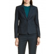 BOSS Jibalena Microcheck Wool Suit Jacket Regular Petite OPEN MISC