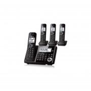 Teléfono Inalámbrico Cuadruple Panasonic KX-TGF344B Baby Monitor Respaldo-Negro