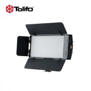 Tolifo PT-30B II Pro with Barn Door Ultra Thin Bi-color 3200K-5600K Temperature LED Video Camera Light - Lampa bi-colora
