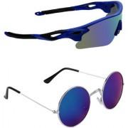Zyaden Combo of 2 Sunglasses Sport and Round Sunglasses- COMBO 2812