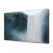Tablou Canvas Premium Peisaj Multicolor Peisaj cu cascada uriasa Decoratiuni Moderne pentru Casa 80 x 160 cm