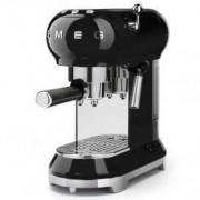 Smeg 50's Style Retro Espresso Coffee Machine Free Delivery - Glossy Black