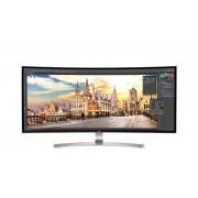 Monitor LED 38UC99-W, 37.5'' WQHD+, 5ms, Ecran curbat, Negru/Alb