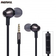 Remax Rm-610d 3.5mm Plug Earphone In-Line Control Stereo Headsets In Ear Earphone HiFi Headset with Microphone for Phone