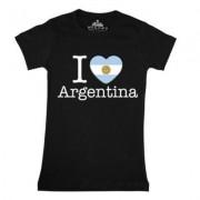 geschenkidee.ch Ländershirt Argentinien, Schwarz, M, Frau