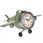 [en.casa]® Стенен часовник Самолет - с аналогови стрелки - 36 x 17 x 25 см. - цветен