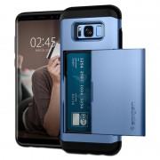 Capa Spigen Slim Armor Card Slider para Samsung Galaxy S8 - Azul