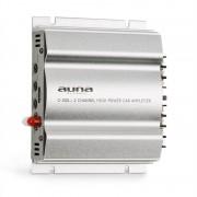 Auna C300.2, 2-канален усилвател с накрайник за кола, 800 W PMPO, 200 W RMS, сребърен (W2-C300.2)