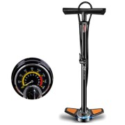 ROCKBROS 160PSI Precise High Pressure Gauge Pump Carbon Steel Bike Pumps Sport Cycling Air Pump