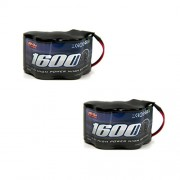 Venom 6 Volt 1600m Ah 5 Cell Hump Receiver Ni Mh Battery (2 Pack)
