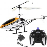 Xectes HX-713 Radio Remote Controlled Helicopter with Unbreakable Blades / Mini Helicopter for Kids / Flying Remote Control Helicopter (Multi Colour)