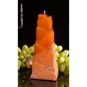 Candles by Milanne Toren Kaars, KOPER METALLIC, hoogte: 21cm - kaarsen