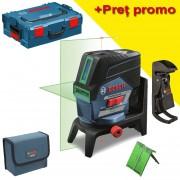 BOSCH GCL 2-50 CG + RM 2 + BM 3 (SOLO)) Nivela laser verde cu linii (20 m) + Suport professional + Clema pentru tavan + L-BOXX