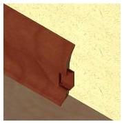 PBC605 - Plinta LINECO din PVC culoare mahon pentru parchet - 60 mm