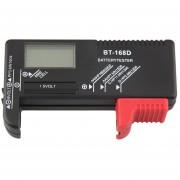 ER AA AAA C D D-168BT Comprobador De Baterías 1.5V 9V Recargables PILAS DE BOTÓN