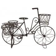 Bicicleta din fier forjat - suport de ghiveci de flori