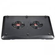 Spire охлаждаща поставка с 2 бр. вентилатори за лаптоп NC354BK, SP-FAN-NC354-BK