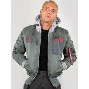 Alpha Industries MA-1 D-Tec Blood Chit Jacket Grey Green L