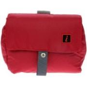 i High Density Polyester Travel Shaving Bag(Red)