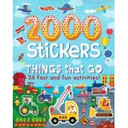 2000 Stickers Things That Go: 36 Fast and Fun Activities!, Paperback