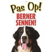 Merkloos Honden waakbord pas op Berner Sennen 21 x 15 cm