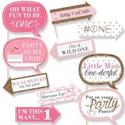 Generic Party Propz Fun To Be One Pink Photobooth For Girls 1St Birthday Party Supplies - Set Of 10