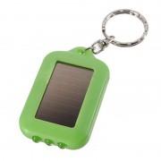 Solárna LED klúčenka v zelenej farbe