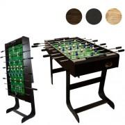 Stół do piłkarzyków BELFAST- ciemny brąz 121x101x79 cm