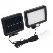 vidaXL Соларна лампа с датчик за движение, LED, бяла светлина