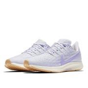 Nike Air Zoom Pegasus 36--005 Tenis para Correr para Mujer, Color Platinum Tint/Purple Agate-Pale Ivory, 9
