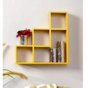 Onlineshoppee MDF Handicraft Designer L Shape Wooden Wall Shelf