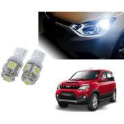 Auto Addict Car T10 5 SMD Headlight LED Bulb for Headlights Parking Light Number Plate Light Indicator Light For Mahindra NuvoSport