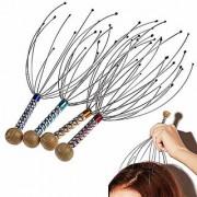 1pcs Head Neck Scalp Massager Massage Octopus Equipment Stress Release Relax Health Care Tool(Randon Color)