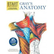 Gray's Anatomy: A Fact-Filled Coloring Book [With Poster], Paperback