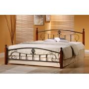 Спалня Мебели Богдан модел 5-Palermo BM, размер: 164/208/106 см, цвят: тъмен орех/черен