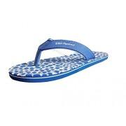 Unispeed Blue Hearts and Accupressure Flip-Flops for Women - 9 UK