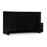 OneConcept Wallander Radiador de aceite 1000 W Termostato Calefacción de aceite Ultraplano Negro (HTR2-Wallander1000BK)