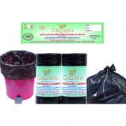 CROWN Oxo Bio Degradable Premium Garbage Bags 4 Rolls 120 Pieces Medium Size 19 Inch x 21 Inch With Detachable Tie Wraps