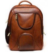 Leather Bags & More... Laptop Bag Backpack(Brown, 15 L)