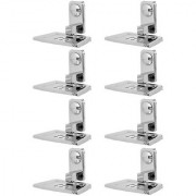 Doyours Stainless Steel Glossy Soap Dish - Set of 8 (Square series)