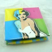 Marilyn Monroe jegyzettömb ceruzával - színes
