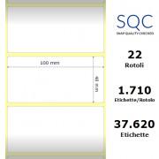 Etichette SQC - Carta patinata (bobina), formato 100 x 48