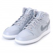 ナイキ NIKE kinetics AIR JORDAN 1 MID BG (GREY) レディース メンズ