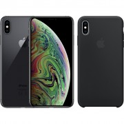 Apple iPhone Xs Max 256 GB Space Gray + Silicone Back Cover